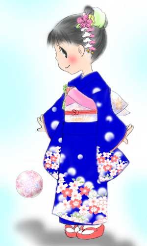 女の子の祝い着